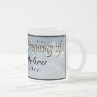 Kundenspezifische Hochzeits-Kaffeetasse