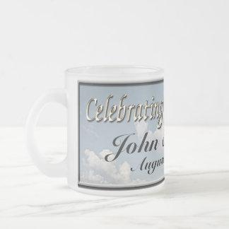 Kundenspezifische Hochzeits-Kaffeetasse Matte Glastasse