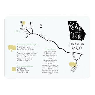 Kundenspezifische Hochzeits-Karte Karte