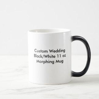 Kundenspezifische Hochzeits-schwarze/weiße Verwandlungstasse