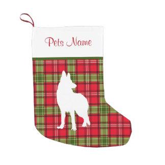 Kundenspezifische Hundezucht-rotes u. grünes Kleiner Weihnachtsstrumpf
