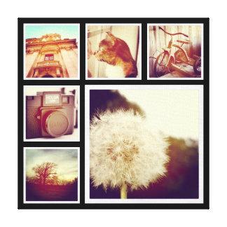 Kundenspezifische Instagram Foto-Collage Leinwanddruck