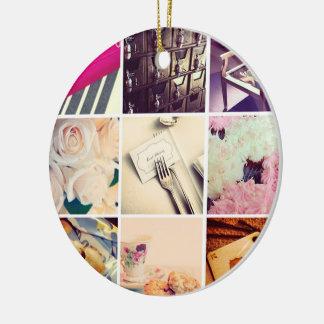 Kundenspezifische Instagram Keramik Ornament
