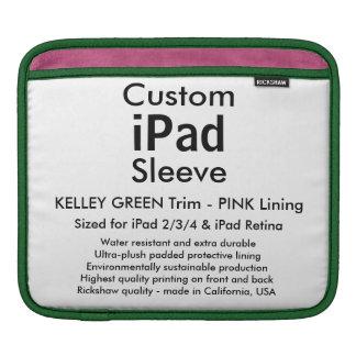 Kundenspezifische iPad Hülse - horizontal (Grün u. Sleeve Für iPads