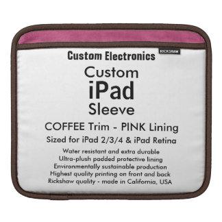 Kundenspezifische iPad Hülse - horizontal (Kaffee Sleeve Für iPads
