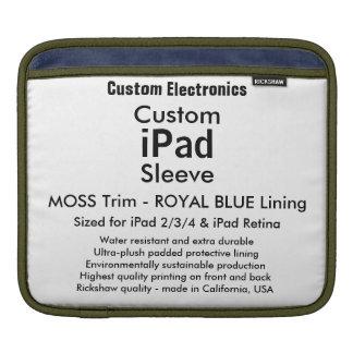 Kundenspezifische iPad Hülse - horizontales Moos iPad Sleeve