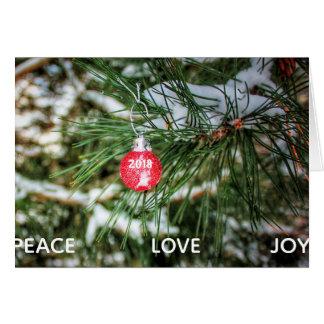 Kundenspezifische Jahr-Verzierungs-Weihnachtskarte Karte