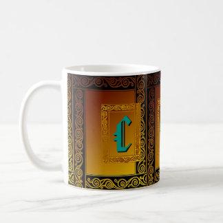 Kundenspezifische keltische Initialen-Tasse Tasse