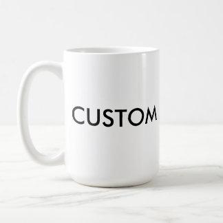 Kundenspezifische klassische große WEISS 15oz Kaffeetasse