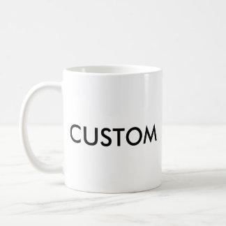 Kundenspezifische klassische Standard 11oz WEISS Kaffeetasse
