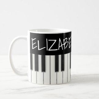 Kundenspezifische Klavier-Schlüssel Kaffeetasse