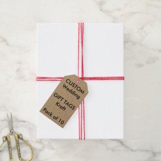 Kundenspezifische KRAFTPAPIER-Geschenk-Umbauten Geschenkanhänger