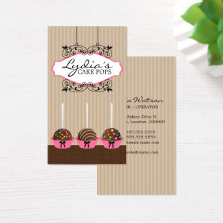 Kundenspezifische Kuchen-Pop-Bäckerei Visitenkarte