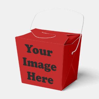 Kundenspezifische leere Schablonen-roter Takeout Geschenkschachtel