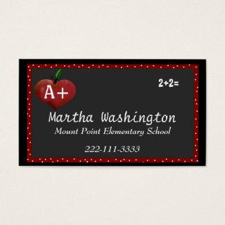 Kundenspezifische Lehrer-Visitenkarte Visitenkarte