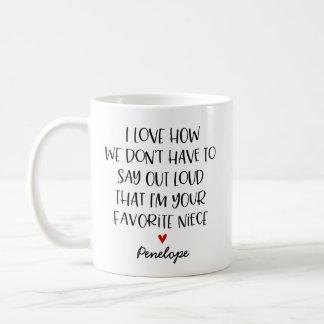 Kundenspezifische Lieblingsnichte Kaffeetasse