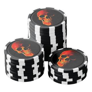 Kundenspezifische lodernde Schädel-Poker-Chips Poker Chip Sets