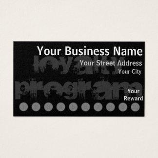 Kundenspezifische Loyalitäts-Lochkarte Visitenkarten
