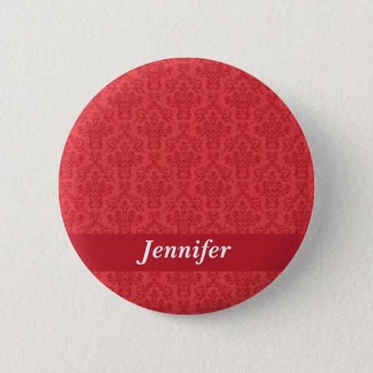Kundenspezifische Mädchen nennen rotes Runder Button 5,1 Cm