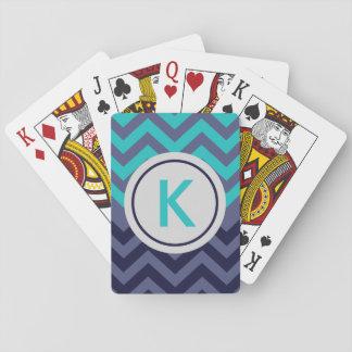 Kundenspezifische Marine-aquamarines blaues Spielkarten