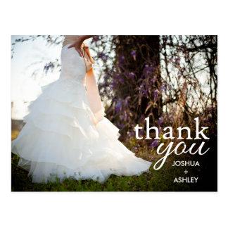Kundenspezifische moderne Hochzeit danken Ihnen Postkarte
