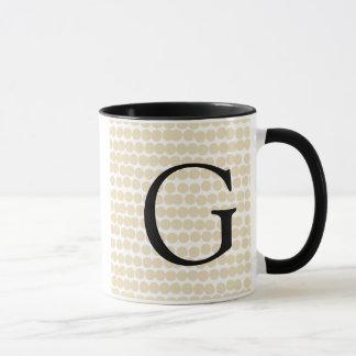 Kundenspezifische Monogramm-Hochzeit Tasse