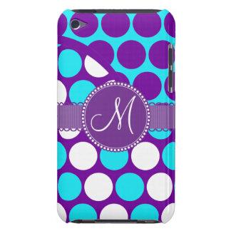Kundenspezifische Monogramm-Initialen-aquamarine Case-Mate iPod Touch Hülle