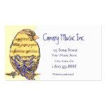 Kundenspezifische Musik-u. Vogel-Visitenkarte