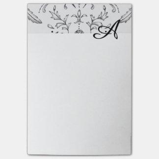 Kundenspezifische Notizblock-Anfangsdamast 4 x 6 Post-it Klebezettel