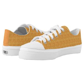 Kundenspezifische orange Zipz niedrige Niedrig-geschnittene Sneaker