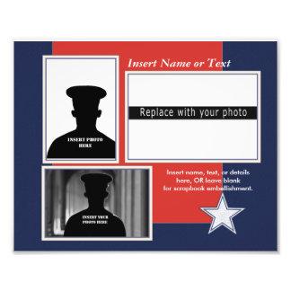 Kundenspezifische patriotische Foto-Collage Fotodruck