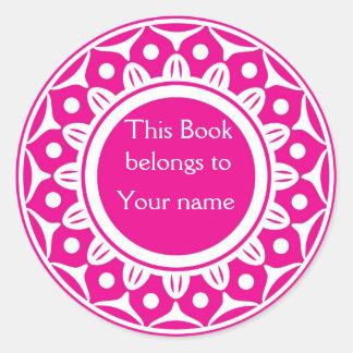Kundenspezifische personalisierte Buchzeichen - Runder Aufkleber
