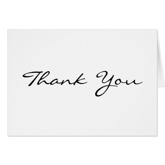 Kundenspezifische personalisierte elegante danken karte
