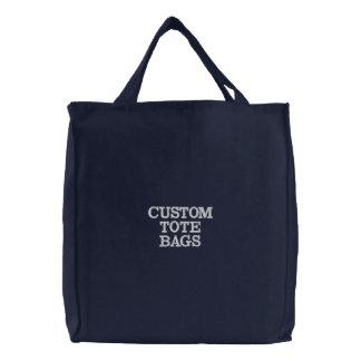 Kundenspezifische personalisierte gestickte bestickte einkaufstaschen