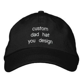 Kundenspezifische personalisierte justierbare bestickte kappe