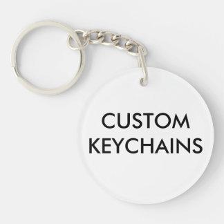 Kundenspezifische personalisierte runde Keychain Schlüsselanhänger