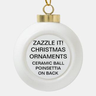 Kundenspezifische POINSETTIA Keramik Kugel-Ornament