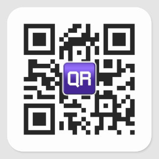 Kundenspezifische QR Code-Aufkleber Quadrat-Aufkleber