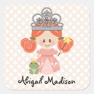 Kundenspezifische Redhead-Prinzessin Frog Sticker