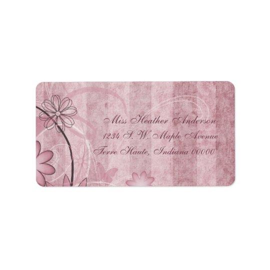 Kundenspezifische rosa adressaufkleber