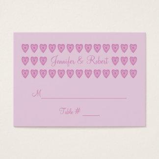 Kundenspezifische rosa Hochzeits-Platzkarten Visitenkarte