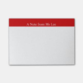 Kundenspezifische rote post-it klebezettel