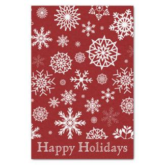 Kundenspezifische rote Schneeflocke-weißes Seidenpapier