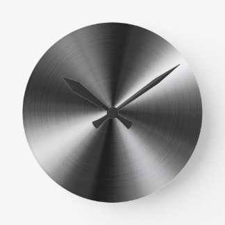 Kundenspezifische runde Edelstahl-Blick-Uhr Runde Wanduhr