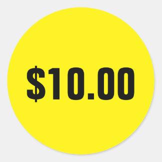 Kundenspezifische runde Verkaufspreisaufkleber für Runder Aufkleber