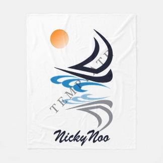 Kundenspezifische Schablonen-Fleece-Decken Fleecedecke