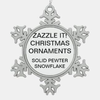 Kundenspezifische Schneeflocken Zinn-Ornament