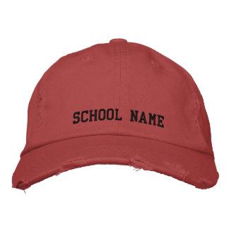 Kundenspezifische Schule gestickter Hut Bestickte Baseballmütze