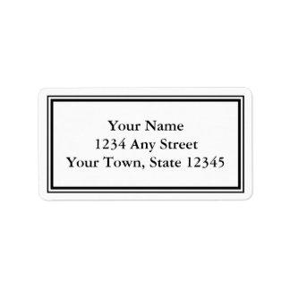 Kundenspezifische schwarze u. weiße adressaufkleber
