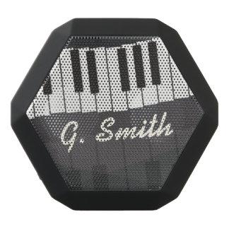 Kundenspezifische Schwarzweiss-Klavier-Tastatur. Schwarze Bluetooth Lautsprecher